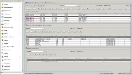 Varduna ERP - snimak ekrana